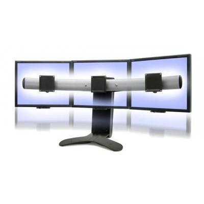 Ergotron monitorarm: LX Series Triple Display Lift Stand - Zwart