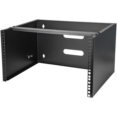 StarTech.com 6U 36 cm diep serverwandmontage beugel voor patchpanelen Rack - Zwart