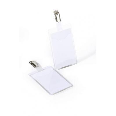 Durable badge: Hoezen met Clip voor Bedrijfs, PVC, Transparant, 25 st.