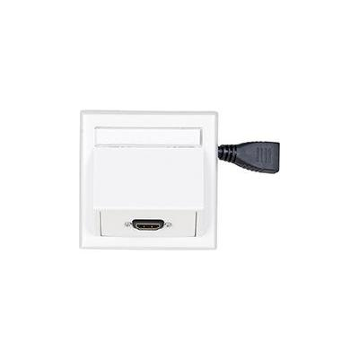 VivoLink Wall Connection Box HDMI, White Wandcontactdoos - Wit