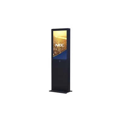 NEC Indoor Freestand Totem with storage area below the display TV standaard - Zwart