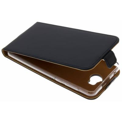 Luxe Softcase Flipcase Huawei Y6 (2017) - Zwart / Black Mobile phone case
