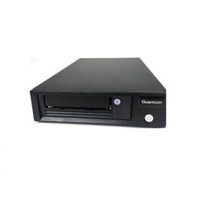 Quantum LTO-7 HH, Single, 1URackmount, 6GB/s SAS, black Tape drive - Zwart