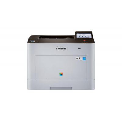 Samsung laserprinter: Xpress SL-C2620DW - Zwart, Zilver