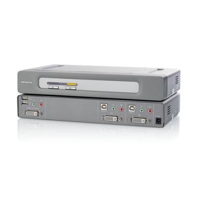 Belkin OmniView® Secure DVI-D Dual-Link 2-Port KVM switch - Grijs