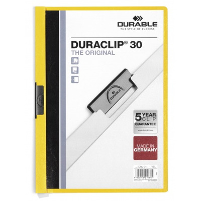 Durable Duraclip 30 Stofklepmap - Transparant, Geel