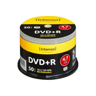 Intenso DVD+R 4.7GB, 16x speed, cakebox 50pcs DVD