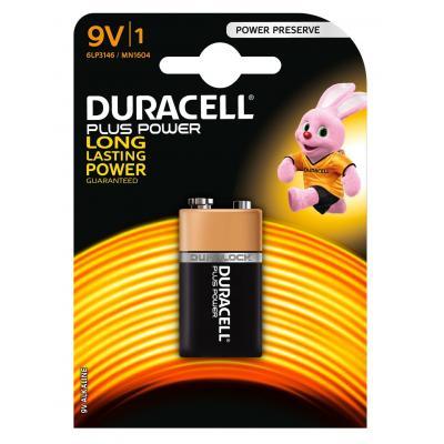 Duracell batterij: Plus Power alkaline 9V-batterijen, verpakking van 1