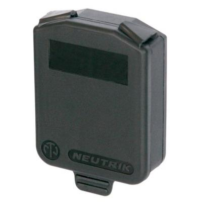 Neutrik D-size, IP42, Black Fitting-cove - Zwart