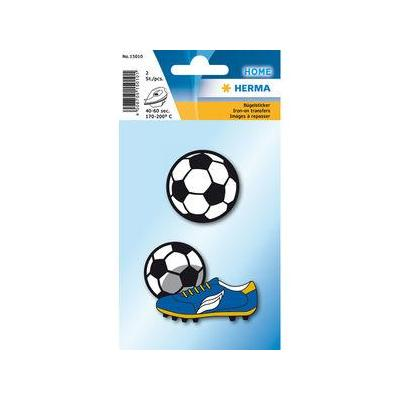 Herma naaiaccessoire: 2 pcs, 40-60s, 170-200°C, Iron on sticker soccer - Multi kleuren