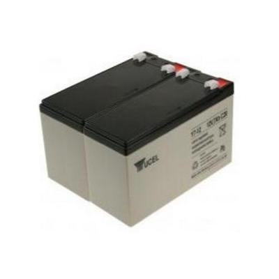 2-power UPS batterij: 2 x 12 V, 7 Ah, VRLA - Zwart, Grijs