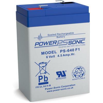 Power-Sonic PS-640 UPS batterij - Blauw, Grijs