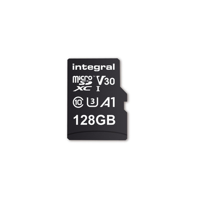 Integral INMSDX128G-100V30 128GB MICRO SD CARD MICROSDXC UHS-1 U3 CL10 V30 A1 UP TO 100MBS READ 45MBS WRITE .....