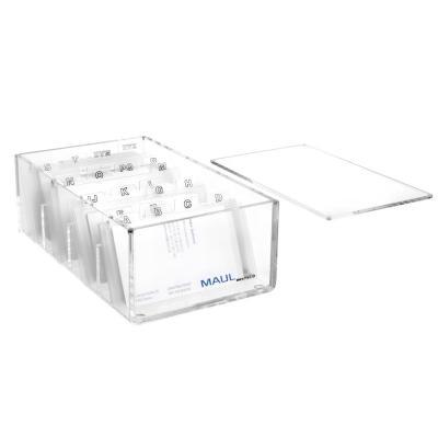 Maul visitekaarthouder: A - Z, 11.4 x 19 x 7 cm - Transparant