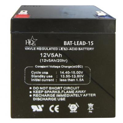 Hq batterij: Lead acid battery 12V 5 Ah - Zwart