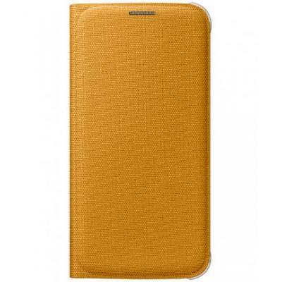 Samsung mobile phone case: Galaxy S6 Flip Wallet Canvas - yellow - Geel