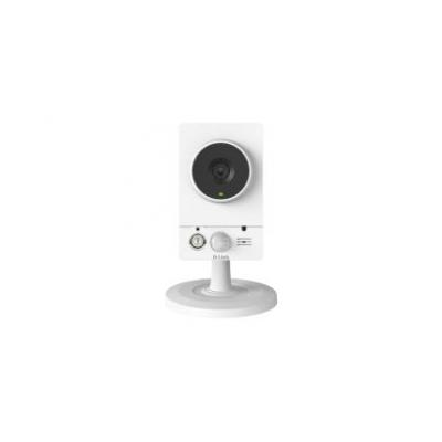 "D-link beveiligingscamera: Indoor, Wireless (802.11b/g/n), 1/4"" CMOS, 1MP, HD 720p, 30 fps, Day / Night, IR LEDs (10m ....."