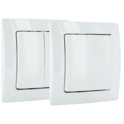 Schwaiger elektrische schakelaar, accessoire: Single / Dual Paddle Wireless Wall Switch