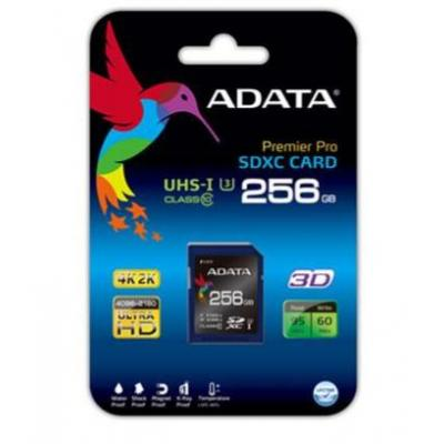 Adata flashgeheugen: 256 GB SDXC - Zwart