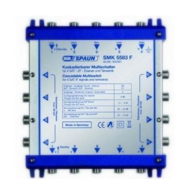 Spaun SMK 5583 F Kabel splitter of combiner - Blauw, Zilver