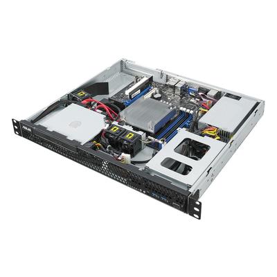 Asus server barebone: RS100-E10-PI2 - Zwart, Metallic