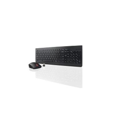 Lenovo 2.4GHz, PnP, LED, DUT - QWERTY Toetsenbord - Zwart