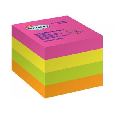 Staples zelfklevend notitiepapier: Notitieblok SPLS 76x76 neon /bl400v