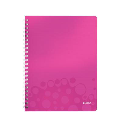 Leitz schrijfblok: A4, 80 gsm, 540g - Metallic, Roze