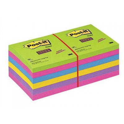 Post-it zelfklevend notitiepapier: Notitieblok S'Sticky 76x76 ultra/p12x90v