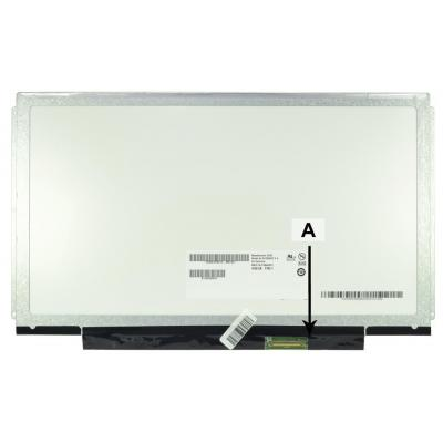 2-power notebook reserve-onderdeel: 13.3 WXGA HD 1366x768 LED Glossy Screen - replaces N133B6-L24 - Zwart