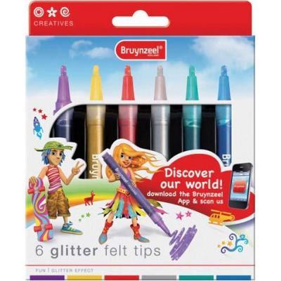Bruynzeel sakura viltstift: glitter viltstiften set 6