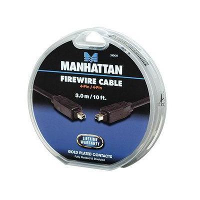 Manhattan fireware kabel: IEEE1394 4p - IEEE1394 4p, 3m - Zwart