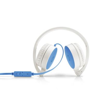 HP H2800 Headset - Blauw, Wit