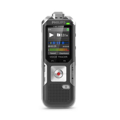 "Philips voice recorder: Voice Tracer 4.4958 cm (1.77 "") LCD, 128 x 160 pix, 4GB NAND Flash, ClearVoice, 110 mW - Zwart"
