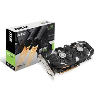 Msi videokaart: GeForce GTX 1060 6GT OC - Zwart