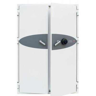Phoenix kluis: 1690 x 1125 x 700 mm, Fingerprint Lock, Alarm, 530 kg, White - Wit