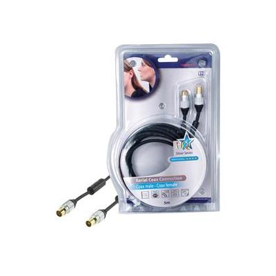 Hq coax kabel: SS5015/5 - Zwart