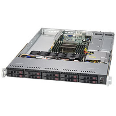 Supermicro 1018R-WC0R Server barebone - Zwart, Zilver