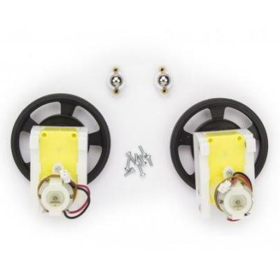 Arduino : Robot 2 wheels set - Zwart