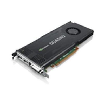 Lenovo videokaart: nVidia Quadro K4000 3GB Graphics Card by, 2x DisplayPort, Dual Link DVI-I - Zwart, Zilver