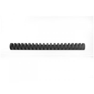 Gbc inbindkit: Bindrug 25mm zwart/doos 50