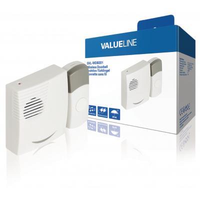 Valueline afstandsbediening: Valueline, Draadloze Deurbel Set Batterijgevoed 70 dB (Wit / Grijs)