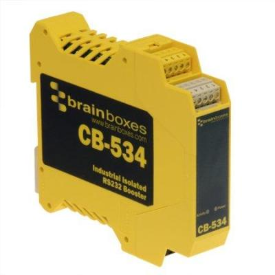 Brainboxes Industrial Isolated RS232 Booster, IP20, 120kb Max Baud Seriele converter/repeator/isolator - .....