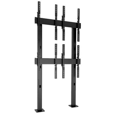 Chief FUSION 2x 2 Portrait Micro-Adjustable Large Bolt-Down Freestanding Video Wall, Black TV standaard - Zwart