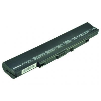 2-power batterij: Main Battery Pack 10.8v 5200mAh Asus U53 (6 Cell Version) - Zwart