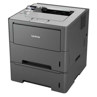 Brother laserprinter: Netwerk Laserprinter  - Zwart, Grijs