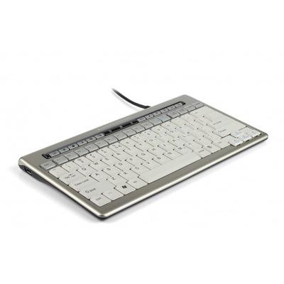 Bakkerelkhuizen S-board 840 toetsenbord - Grijs, AZERTY