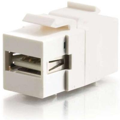 C2G USB 2.0 Keystone A-B F/F - Wit