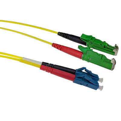 ACT 10m LSZH Singlemode 9/125 OS2 glasvezel patchkabel duplexmet E2000/APC en LC/UPC connectoren Fiber optic kabel - .....