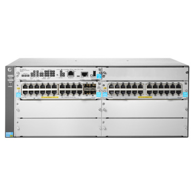 Hewlett Packard Enterprise 5406R 44GT PoE+ & 4-port SFP+ (No PSU) v3 zl2 Switch - Grijs